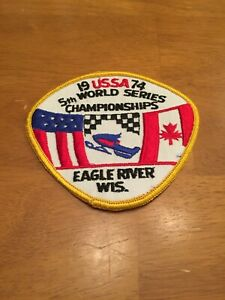 VINTAGE SNOWMOBILE USSA RACING PATCH