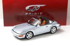 1:18 GT Spirit Porsche 911 964 Carrera 4 Targa Silver New chez Premium-modelcars