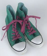 Convererse All Star Chuck Taylor Sneakers ~Womens 9 ~Mens 7 Green Pink High Tops