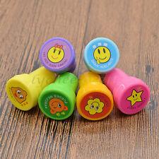 Kawaii Smile Face Ink Stamp Hand Craft Scrapbooking Cute DIY Kid Diary Gift 6Pcs