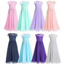 Vestidos de Fiesta para Bodas Vestidos Largos de Encaje Flores Para Niñas 4-14