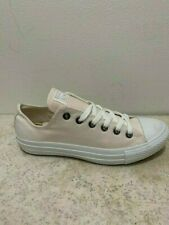 Converse All Star ox Canvas Womens Trainers Shoes White Beige Mono Size 5 UK
