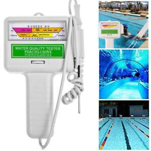 Elektronischer Wassertester für Chlor und PH-Wert Pool Messgerät Wasserqualität
