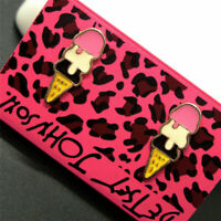 Betsey Johnson Cute Pink Enamel Ice Cream Cones Stud Earrings Womens Jewellery