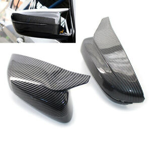 Wing Mirror Cap Carbon Fiber Style Side Cover Trim For 2017-2020 BMW G20 G30 M
