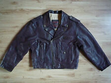 Vintage Leather Biker Motorcycle Jacket Used Selected Clothing