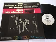 "The Double Six of Paris - ""Sing Ray Charles"" Mono Philips RARE PROMO LP"
