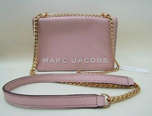 Marc Jacobs Double Take Women's Rose Leather Crossbody Shoulder Bag M0015016-693