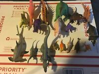 Dinosaur Figures Lot of 18 Toy Figures Various Sizes