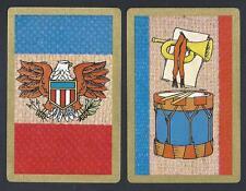 #930.059 vintage swap card -EXC/NEAR MINT pair- American Eagle & Drum