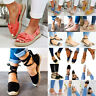 Womens Ankle Strappy Sandals Peep Toe Espadrilles Comfy Summer Beach Flat Shoes