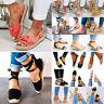 Women's Flat Espadrille Sandals Ladies Summer Comfy Ankle Strap Flat Beach Shoes