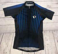Pearl Izumi Elite Womens Shirt FullZip Cycling Shirt S Blue&Black 3 Pocket C9