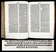 INCUNABLE 1483 PAUL OF BURGOS Comment. on LATIN BIBLE by SPANISH JEW Converso