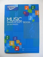 Supreme Music Manuscript Book  24 Pages A4 Size 12 Staves Page Compose Theory