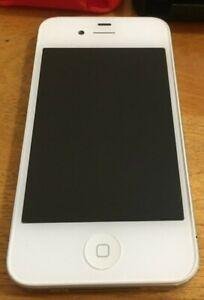 iPhone 4 White 8GB Model A1332 MD198C/A No SIM Card