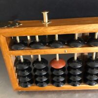 VTG Abacus Wooden Brass 17 Rows Chinese Calculator Mathematics Business Tool