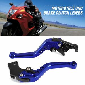 Blue CNC Short Brake Clutch Lever For Suzuki SV650 99-09 DL650/V-STROM 04-10 UK
