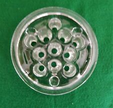 New listing Large Vintage Clear Glass Floral Frog with 11 Holes, 3 Button Feet