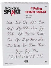 School Smart Chart Tablet, 24 x 32 Inches, 1 Inch Rule, 25 Sheets
