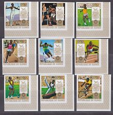 Guinea,  Munich Imperf. Olympics 1972 set + Souv. Sheet  MNH.