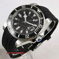 40mm bliger sterile dial sapphire glass date ceramic bezel automatic mens watch
