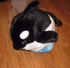 "Sea World SHAMU ORCA KILLER WHALE 13"" Dual Plush Animal SOFT TOY"