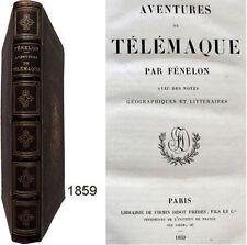 Aventures de Télémaque suivi Aristonoüs 1859 Fénelon éloge La Harpe