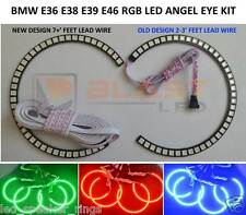 BMW RGB LED ANGEL EYES KIT for 3,5,7 Series E38 E39 E46 Multi-color 7' LEAD WIRE
