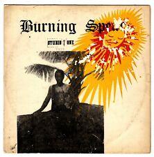 BURNING SPEAR-burning spear     coxsone LP  (hear)  ska  silk screen cover