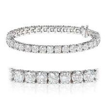 Pulseras de joyería de oro blanco de 18 quilates diamante
