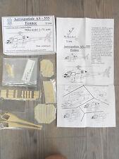 "AEROSPATIALE AS-355/350/555 FENNEC ""3 FRENCH ARMY"" MIKU MODEL RESIN+PE RARE 1/72"