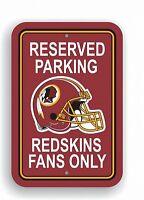 Washington Redskins Parking Sign,45 cm,NFL Football,ONLY FOR FANS,Wandschild