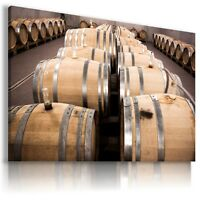 WINE BARRELS ALCOHOL Canvas Wall Art Picture Large SIZES  DR6  X MATAGA .