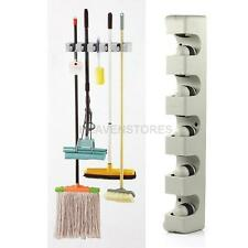 5 Racks Wall Mounted Mop Organizer Holder Broom Hanger Storage Rack Kitchen Tool