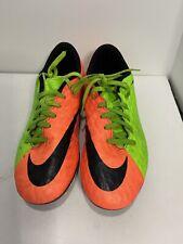 New listing Nike Hypervenom Soccer Cleats Shoes Men's Neon Green Orange 852547-308 Size 8