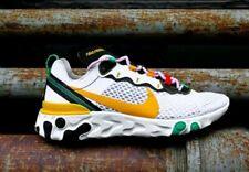 Nike Men's React Element 55 Sunburst White Green Yellow CK9288-100 size 11