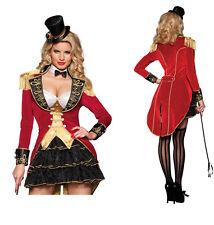 Adult Women Ringmaster Costume Circus Lion Tamer Beastmaster Cosplay Fancy Dress