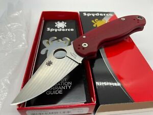 Spyderco C223GPRD Para 3, Satin Finish M390 Steel, Red G10 Scales, DLT Exclusive