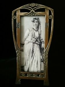 EXQUISITE ORIGINAL ART NOUVEAU ,JUGENDSTIL, COPPER PICTURE /PHOTO FRAME