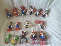 Lot of 15 Nintendo Mario Luigi Yoshi Figures Soccer 1989