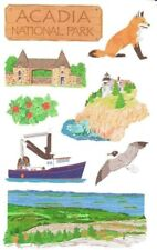 ~ Acadia National Park USA America Holiday Travel Grossman Stickers ~