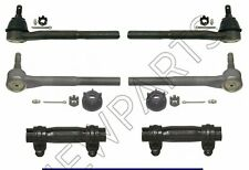 For Chevy GMC Express Tahoe Yukon Savana Front Inner & Outer Tie Rod Ends Kit
