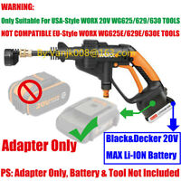 WORX 20V USA-STYLE CLEANER TOOLS ADAPTER WORK WITH BLACK&DECKER 20V MAX BATTERY