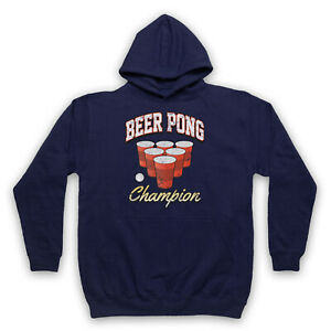 BEER PONG CHAMPION BEIRUT DRINKING GAME RED CUP FUNNY ADULTS UNISEX HOODIE