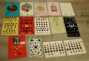 COLLECTOR'S STASH 14 Cards ASSORTED BUTTONS Lot L