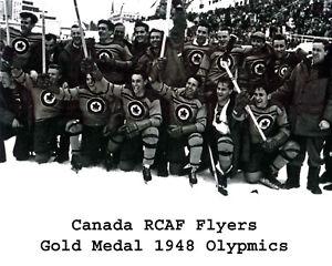 Team Canada 1948 Gold Medal Hockey, 8x10 B&W Team Photo