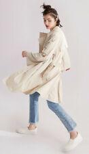 Donna Karan Women Long Trench Coat Wrap Windbreaker Casual Jacket Belted  XXS