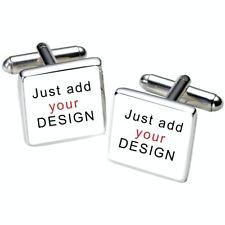 Custom Add Your Own Design Graphics Photo Logo Cufflinks - Personalised