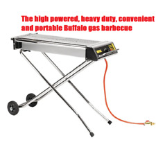 More details for buffalo commercial folding outdoor  propane lpg gas barbecue 900hx1120wx410dmm